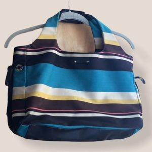 Kate Spade Beach Side striped canvas tote
